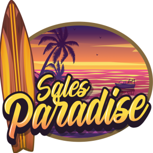 Sales Paradise - bright words - clean logo square:small